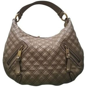 MARC JACOBS Quilted Banana Calfskin Leather Hobo